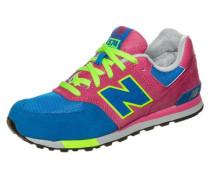 Sneaker '574' blau / neongelb / pink