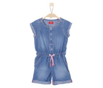 Overall in Denim-Optik blue denim / rosa