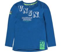 Baby Shirt für Jungen blau / hellgrün / weiß