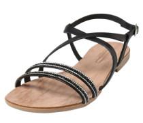 Riemchen-Sandalen mit Strass 'Nil' schwarz