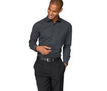 Businesshemd 'Luxor modern fit' schwarz / weiß