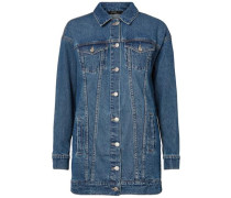 Lange Jeansjacke blue denim