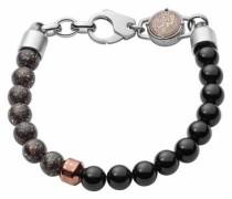Armband 'bead Dx1076040' dunkelbraun / schwarz / silber