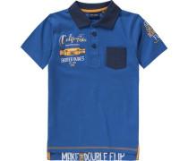 Poloshirt für Jungen blau / dunkelblau / grün / orange