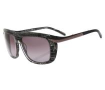 Sonnenbrille bronze / lila / schwarz / silber