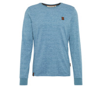 Sweatshirt 'Hosenpuper Langen V' himmelblau / weiß