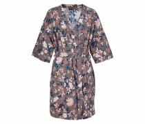 Bodywear Kimono mit Blumenprint taupe / rosa