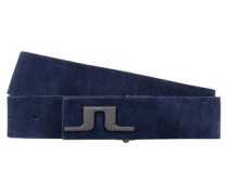Carter Brush-Leder Gürtel navy