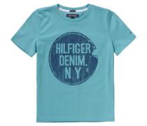 T-Shirt für Jungen Organic Cotton türkis