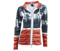 Shirtjacke blau / grau / orange