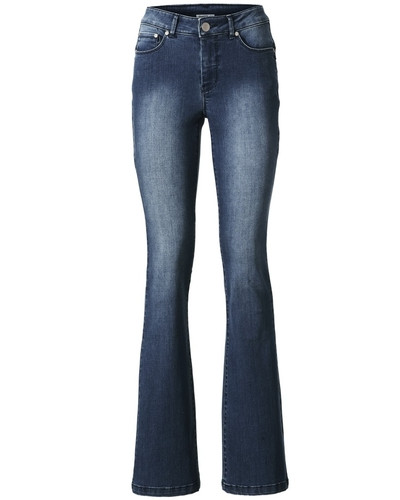 Bodyform-Bootcut-Jeans blau