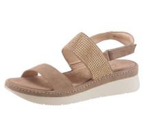 Sandalette camel / gold