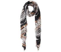 Langer Schal beige / schwarz