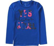 Langarmshirt Nitijarn für Mädchen Organic Cotton blau / pink / schwarz