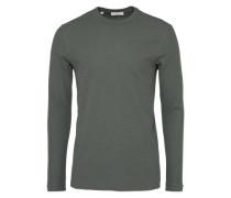 T-shirt 'waffle O-Neck' dunkelgrün