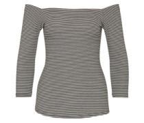 Shirt 'Carmencita' schwarz / weiß