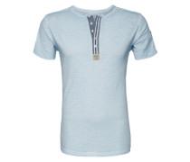 T-Shirt 'T Stadium button' blau