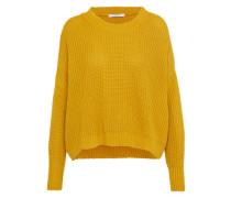Pullover aus Grobstrick gelb