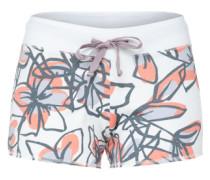Sweat-Shorts rauchblau / orangerot / weiß