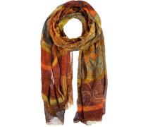 Woll-Seiden Schal mischfarben