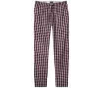 Pyjamahose »Heritage woven pant check« rot
