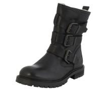 Stiefel mit Schnallen schwarz