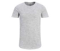 Longline-T-Shirt hellgrau / offwhite