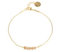 Armband mit Glasperlen gold