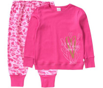 Schlafanzug für Mädchen pink / hellpink