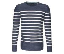 Sweatshirt 'c neck stripe' blau