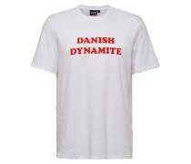 T-Shirt weiß / hellrot