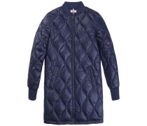 Jacke 'thdw Quilted Long Bomber 23' nachtblau