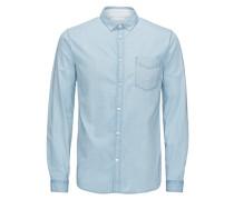 Freizeithemd Slim-Fit- blau