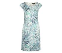 Kleidchen in Midi-Länge rauchblau / offwhite