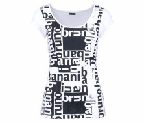 Rundhalsshirt schwarz / weiß