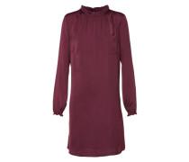 Kleid mit Stehkragen weinrot