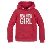 Kapuzensweatshirt für Mädchen rot / weiß