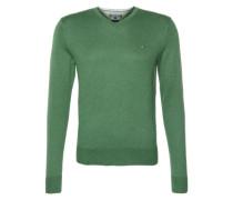Pullover mit Seiden-Anteil grün