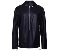 Sportliche Kapuzen-Lederjacke Shia schwarz