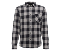 Hemd 'flannel Check' anthrazit / dunkelgrau