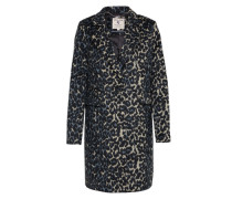 Klassischer Mantel mit Animal-Print hellbeige / rauchblau / schwarz