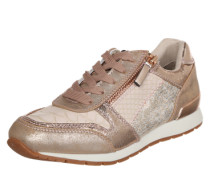 Sneaker im Metallic-Look gold / rosé