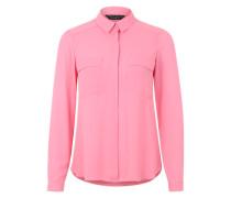 Hemdbluse mit zwei Brusttaschen pink