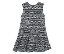 Jerseykleid mit Tank-Trägern für Mädchen schwarz