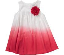 Kinder Jerseykleid mit Blume rot / weiß