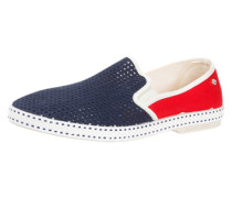 Slipper 'France' marine / rot / offwhite
