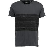 T-Shirt 'frame Panel' grau