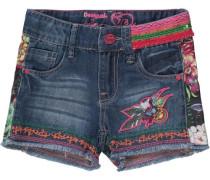 Jeansshorts mit Patches für Mädchen blau