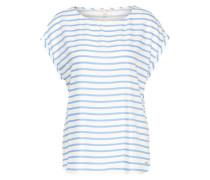 Bluse im Streifen-Design hellblau / weiß
