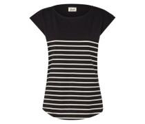 Shirt 'Newport' beige / schwarz
